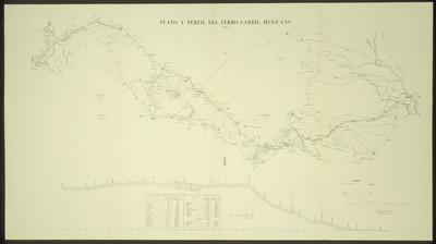 Plano y perfil del ferro-carril mexicano