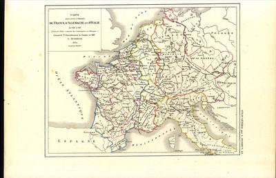 Carte pour servir à l'histoire de France, d'Allemagne et d'Italie de 843 à 911