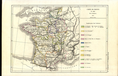 Carte de France en 1095