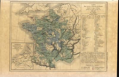 Carte pour servir à l'histoire de France depuis le siège d'Orléans jusqu'à la mort de Louis XI (1428-1483)