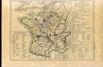 Carte pour servir à l'histoire de la France depuis la mort de Henri III (1589) jusqu'à la mort de Henri IV (1610)