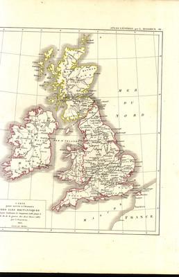 Carte pour servir à l'histoire des Îles Britanniques depuis Guillaume le Conquérant