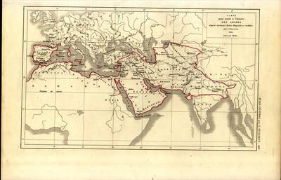 Carte pour servir à l'histoire des Arabes