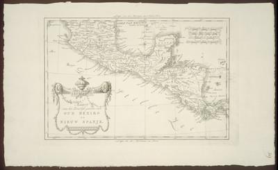 Kaart van het Luidelyk gedeelte van oud Mexiko of Nieuw Spanje