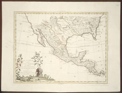 Messico ouvero Nuova Spagna che contiene il Nuovo Messico La California con una parte de paesi adjac