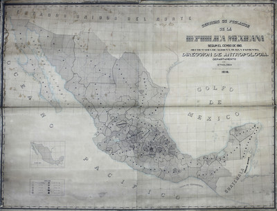 Densidad de población de la República Maxicana según el censo de 1910