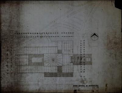 Museo Nacional de Antropología. Plano azotea