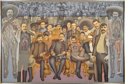 La llegada de los generales Zapata y Villa al Palacio Nacional el 6 de diciembre de 1914