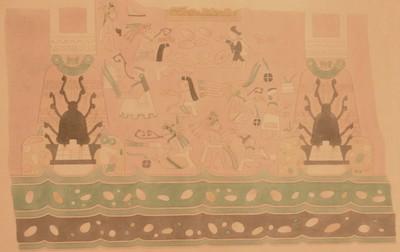 Reproducción del mural de las ofrendas