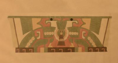 Reproducción del mural ave vista de frente