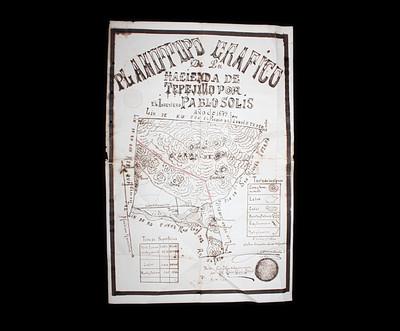 Plano topográfico de la Hacienda de Tepejillo