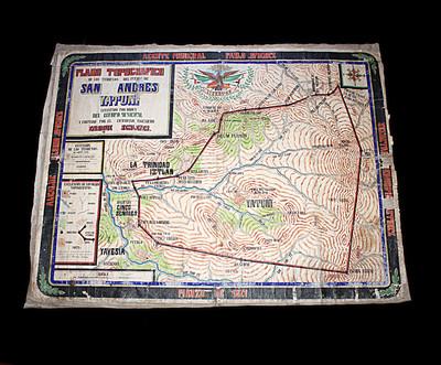 Plano topográfico de los terrenos del pueblo de San Andrés Yatuni