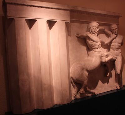 Metopa XXXI del friso sur del Partenón de Atenas
