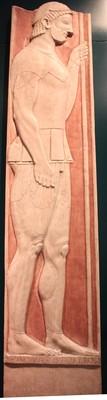Réplica de la estela funeraria del guerrero Aristión