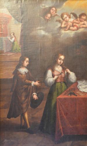 Escena de vida de Santa Catalina de Siena