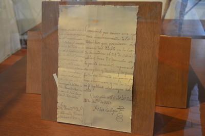 Documento firmado por Félix María Calleja