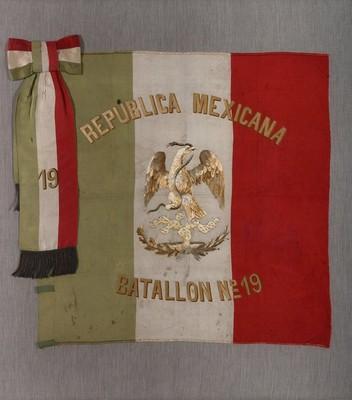 Bandera República Mexicana Batallón No. 19