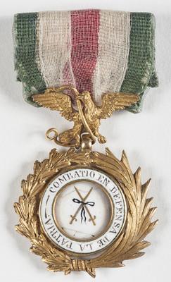 Condecoración a la defensa de la patria en la Batalla de Churubusco
