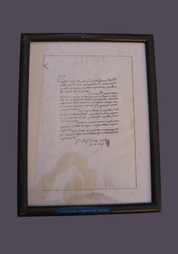 Certificado extendido por Miguel Hidalgo