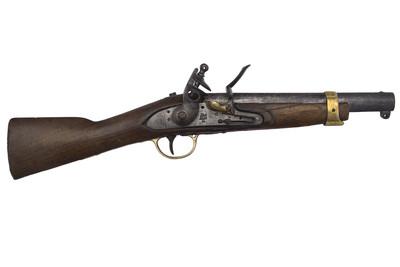 Fusil con llave de sílex y cañón de ánima lisa