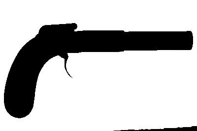 Pistola con llave de percusión y cañón de ánima lisa