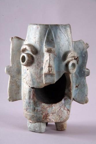Vaso con representación del dios Tláloc