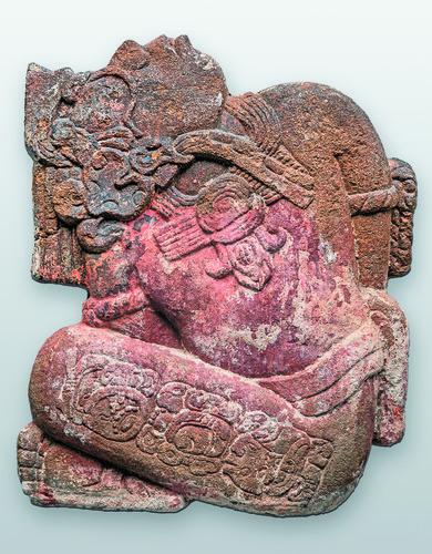 Escultura en relieve de cautivo