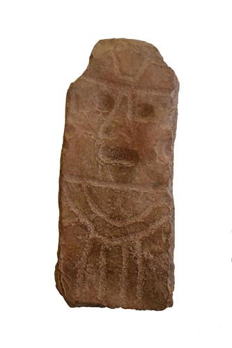 Escultura antropomorfa parcial, cabeza