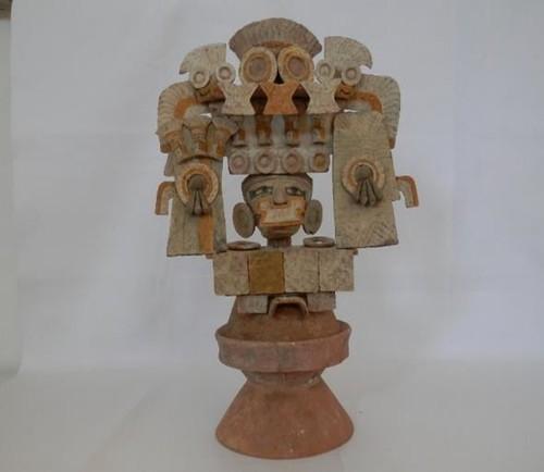 Brasero dedicado a Quetzalcóatl
