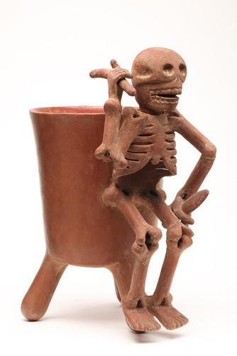 Vaso del dios de la muerte Yaa Dz Andaya