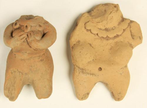 Figurillas antropomorfas femeninas parciales