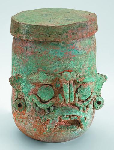 Vaso del dios Tláloc-Chaahk