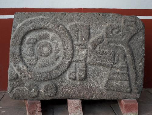 Escultura de la sujeción de Mazateopan