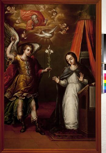 La anunciación a la Virgen María