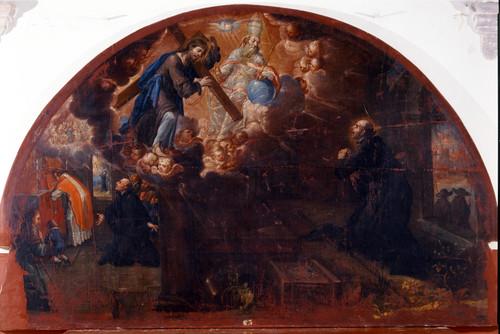 Visión que tiene san Ignacio de la Santísima Trinidad