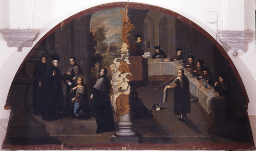 San Estanislao pide su ingreso a la Compañía de Jesús y es dedicado a servir a los colegiales