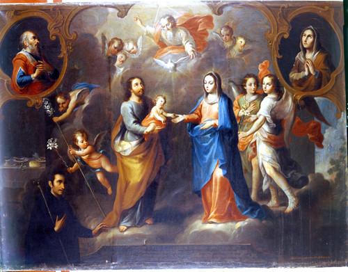 San Francisco de Regis con la Sagrada Familia