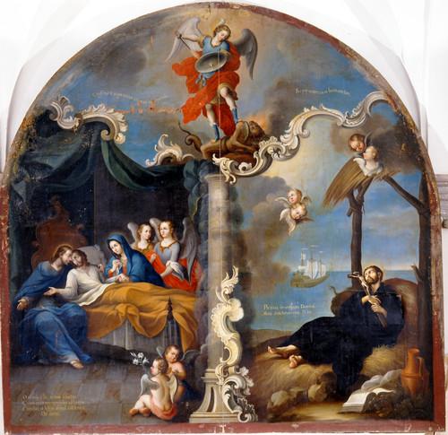 Agonía de san Francisco Javier y muerte de san José