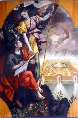 San Juan escribiendo el Apocalipsis