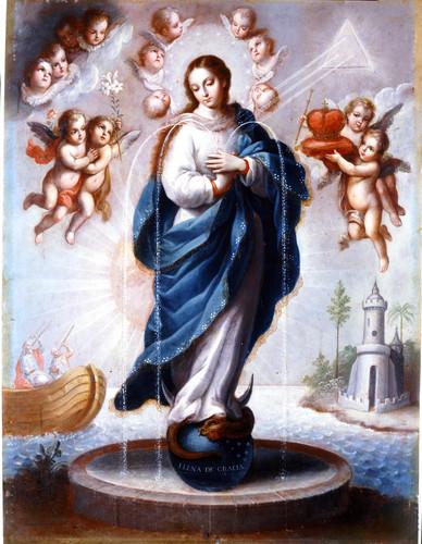 Alegoría de la Inmaculada Concepción como fuente de vida