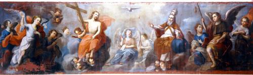 Santísima Trinidad con los arcángeles