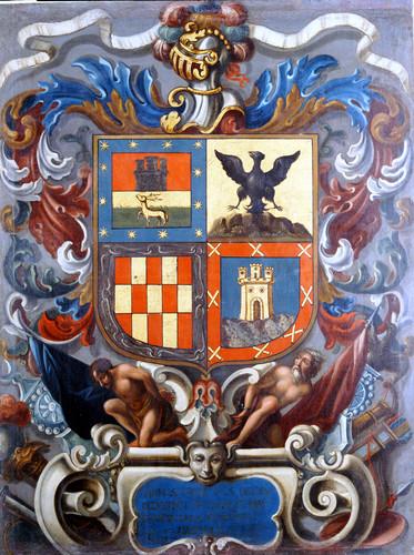 Escudo de armas de la casa de Urdaneta Legazpi Muñoz y Castillo