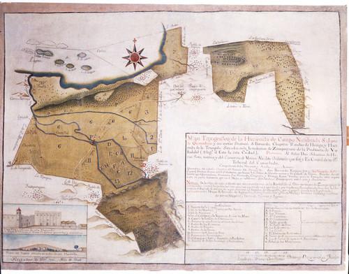 Mapa de la hacienda de San José de Queréndaro