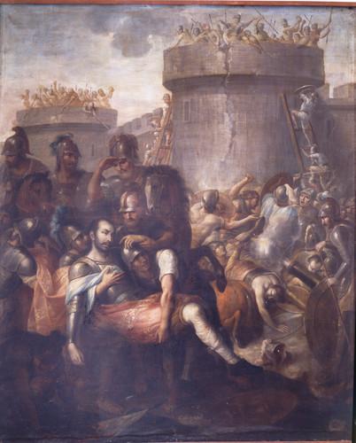 San Ignacio herido en la batalla de Pamplona