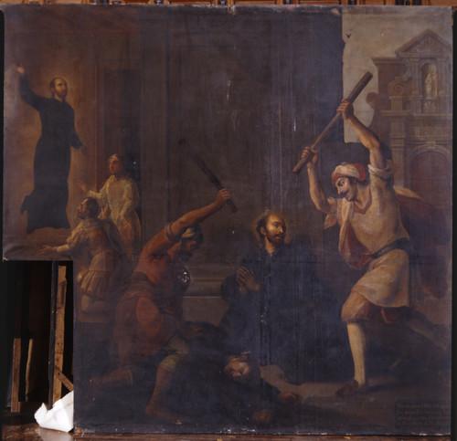Dan de palos a san Ignacio y a un sacerdote