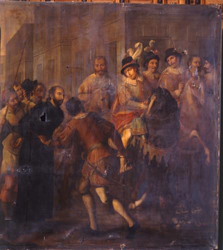 San Ignacio es llevado preso por las calles de Alcalá