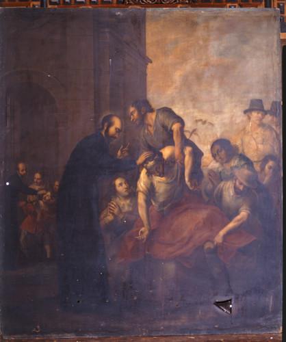 San Ignacio exorcizando