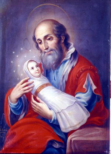 San Joaquín con la Virgen María