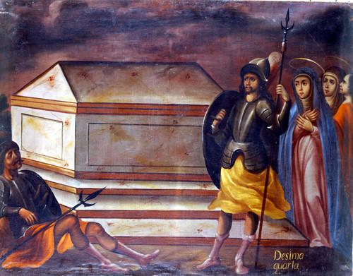 Las Santas Mujeres ante el sepulcro de Cristo