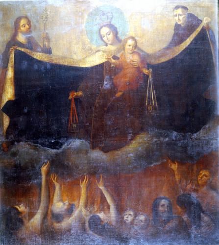 Patrocinio de la Virgen del Carmen a las ánimas del purgatorio